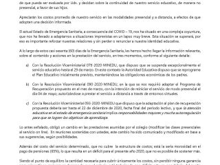 Carta adjunta al Decreto Legislativo Nº 1476